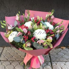 доставка цветов Москва, цветы Москва, купить цветы в Москве, цветы недорого Москва, заказать цветы Москва, цветы, Москва, доставка, букет, альстромерия, орхидея, хризантема, одноголовая хризантема, анастасия, эустома, эвкалипт