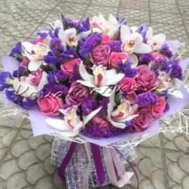 доставка цветов Москва, цветы Москва, купить цветы в Москве, цветы недорого Москва, заказать цветы Москва, цветы, Москва, доставка, букет, ирисы, орхидея, роза, статица, белая орхидея