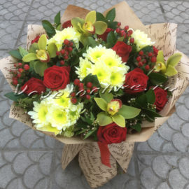 доставка цветов Москва, цветы Москва, купить цветы в Москве, цветы недорого Москва, заказать цветы Москва, цветы, Москва, доставка, букет, роза, кустовая роза, хризантема, кустовая хризантема, орхидея, гмперикум