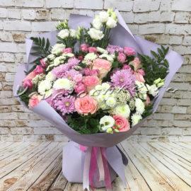 доставка цветов Москва, цветы Москва, купить цветы в Москве, цветы недорого Москва, заказать цветы Москва, цветы, Москва, доставка, букет, роза, кустовая роза, хризантема, кустовая хризантема, сантини, эустома, папоротник, озотамнус