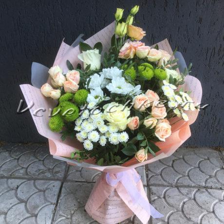 доставка цветов Москва, цветы Москва, купить цветы в Москве, цветы недорого Москва, заказать цветы Москва, цветы, Москва, доставка, букет, роза, кустовая роза, хризантема, кустовая хризантема, сантини, филин грин, эустома