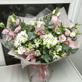 доставка цветов Москва, цветы Москва, купить цветы в Москве, цветы недорого Москва, заказать цветы Москва, цветы, Москва, доставка, букет, альстромерия, орхидея, хризантема, кустовая хризантема, эустома, эвкалипт