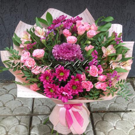 доставка цветов Москва, цветы Москва, купить цветы в Москве, цветы недорого Москва, заказать цветы Москва, цветы, Москва, доставка, букет, хризантема, кустовая хризантема, брассика, роза, кустовая роза, статица