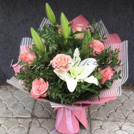 доставка цветов Москва, цветы Москва, купить цветы в Москве, цветы недорого Москва, заказать цветы Москва, цветы, Москва, доставка, букет, лилия, белая лилия, роза, букет из роз