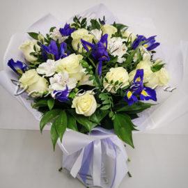 доставка цветов Москва, цветы Москва, купить цветы в Москве, цветы недорого Москва, заказать цветы Москва, цветы, Москва, доставка, букет, альстромерия, ирисы, роза