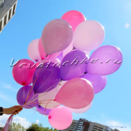 доставка цветов Москва, цветы Москва, купить цветы в Москве, цветы недорого Москва, заказать цветы Москва, цветы, Москва, доставка, шары с гелием, с днем рождения, 25 шаров, 25 гелиевых шаров