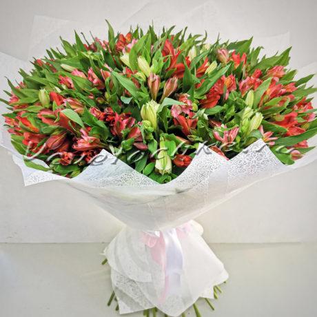 доставка цветов Москва, цветы Москва, купить цветы в Москве, цветы недорого Москва, заказать цветы Москва, цветы, Москва, доставка, альстромерия, 49 альстромерий