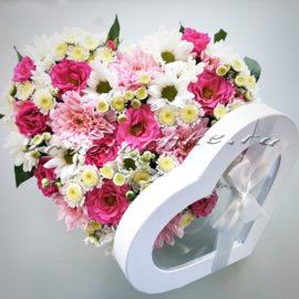 доставка цветов Москва, цветы Москва, купить цветы в Москве, цветы недорого Москва, заказать цветы Москва, цветы, Москва, доставка, шляпная коробка, роза, кустовая роза, хризантема, кустовая хризантема, сталлион, сердце