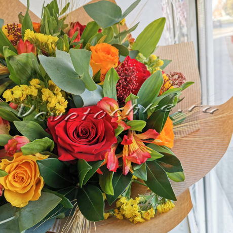 доставка цветов Москва, цветы Москва, купить цветы в Москве, цветы недорого Москва, заказать цветы Москва, цветы, Москва, доставка, букет, альстромерия, роза, скиммия