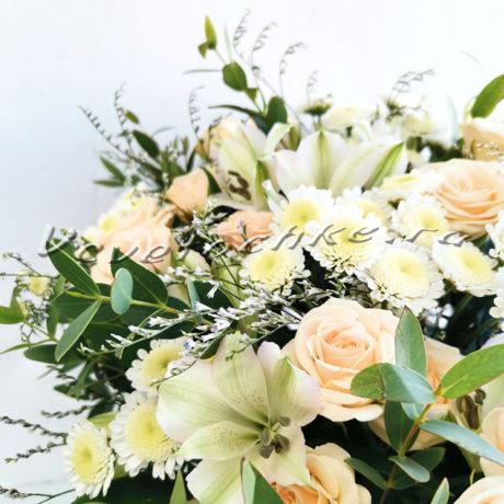 доставка цветов Москва, цветы Москва, купить цветы в Москве, цветы недорого Москва, заказать цветы Москва, цветы, Москва, доставка, коробка, шляпная коробка, коробка цветов, гортензия, альстромерия, роза, роза кустовая