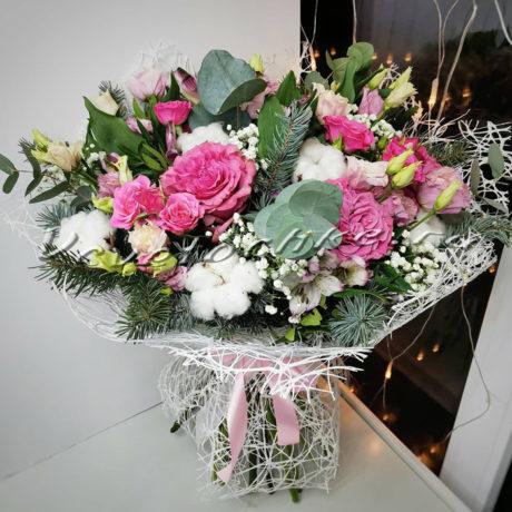 доставка цветов Москва, цветы Москва, купить цветы в Москве, цветы недорого Москва, заказать цветы Москва, цветы, Москва, доставка, букет, альстромерия, роза, роза кустовая, эустома, хлопок, гипсофила, эвкалипт, нобилис