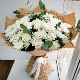 доставка цветов Москва, цветы Москва, купить цветы в Москве, цветы недорого Москва, заказать цветы Москва, цветы, Москва, доставка, букет, хризантема, белая хризантема, кустовая хризантема